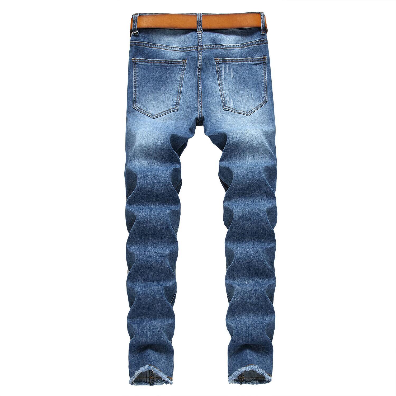 Men's Ripped Jeans Skinny Men