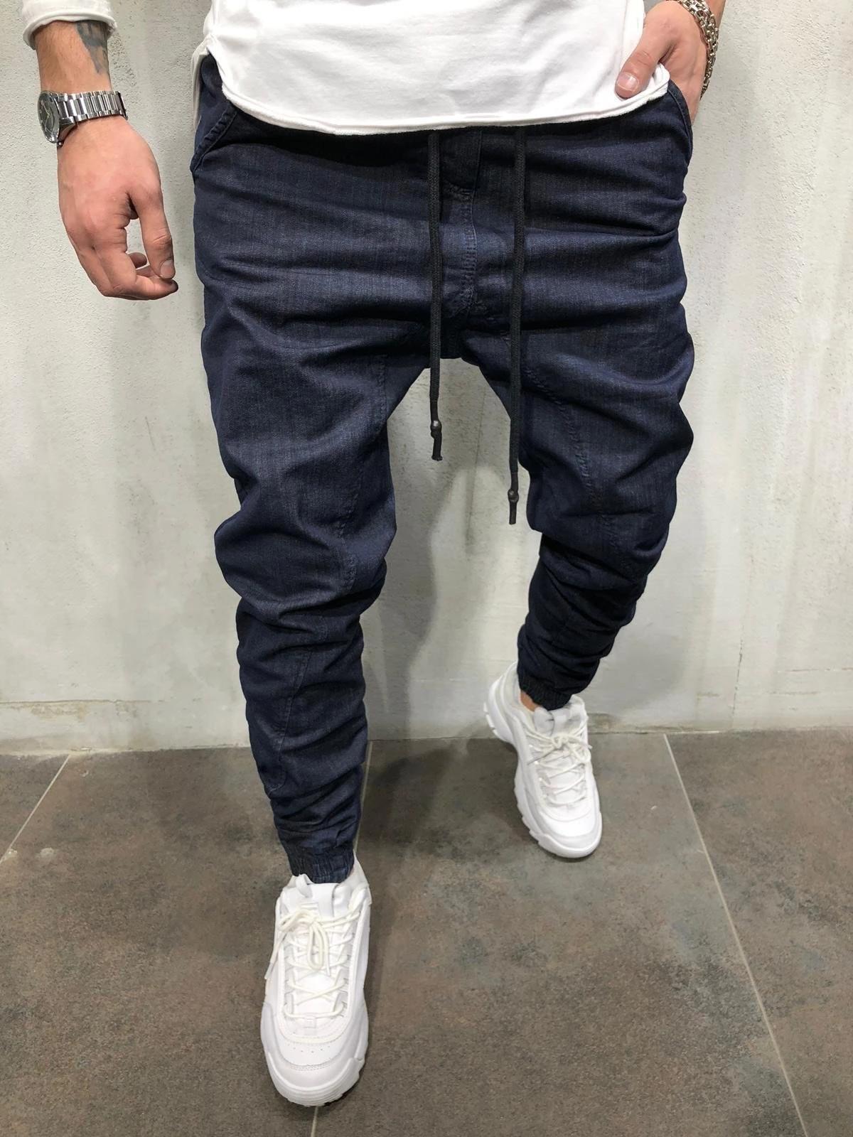 Men's Casual Denim Pants Slim Stretch