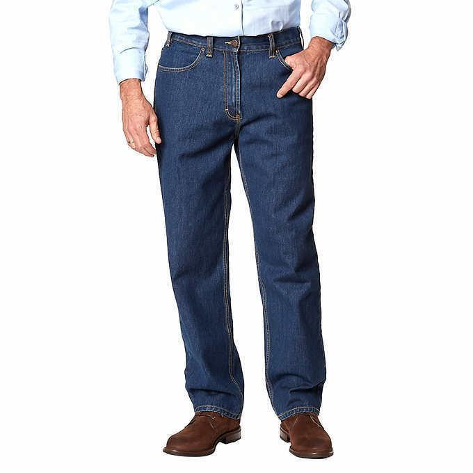men jeans mens relaxed fit cotton dark