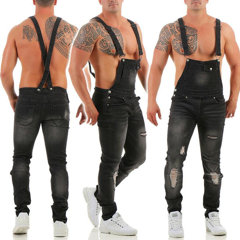 Men's Overalls Work Vintage Regular Jeans Jumpsuits