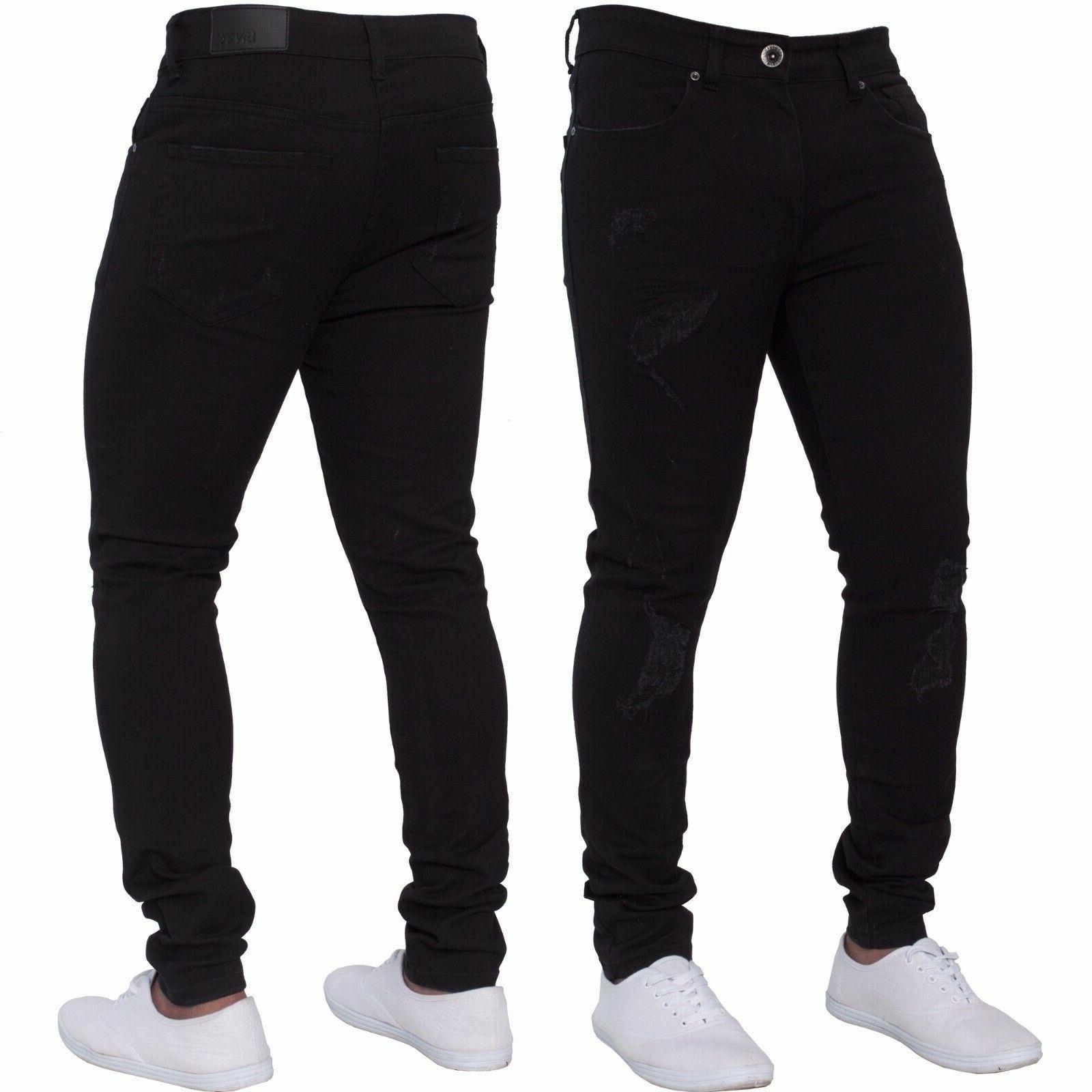 Men's Fashion Stretch Jeans Fitness Denim Trousers Pants