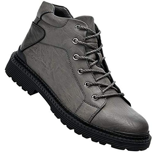 men s leather lace up anti slip