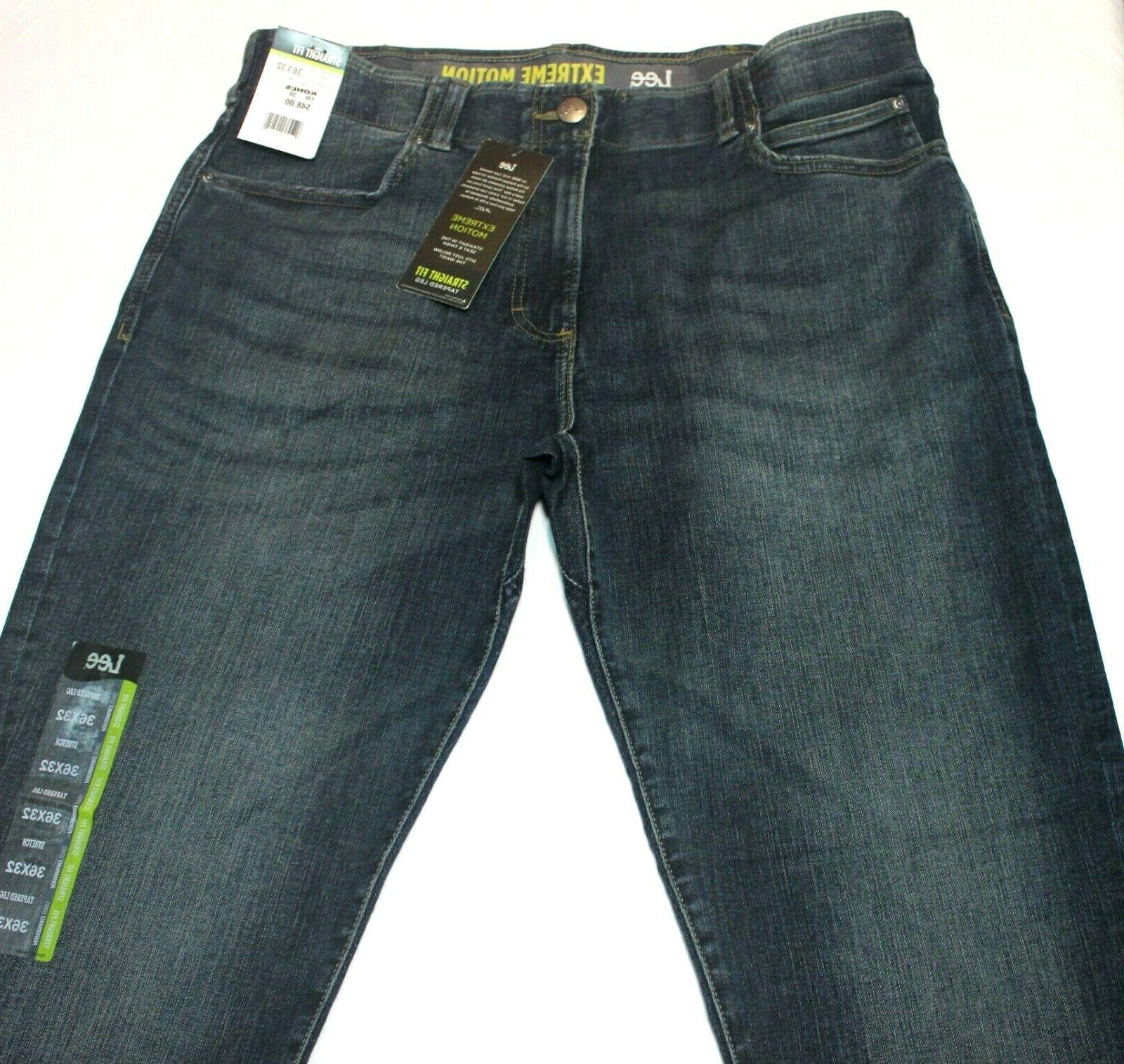 "Men's ""Lee"" Maverick Extreme Motion Straight Tapered Jeans"