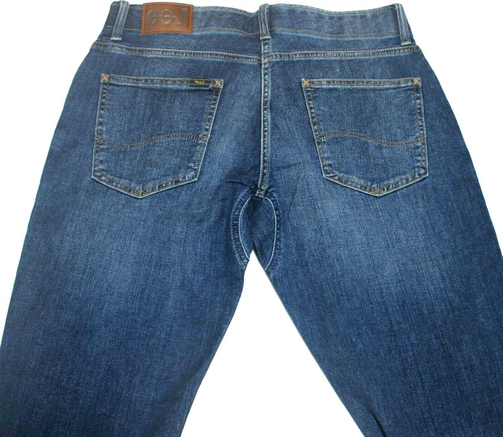 """Men's """"Lee"""" Motion Straight Fit Tapered Leg Jeans"""
