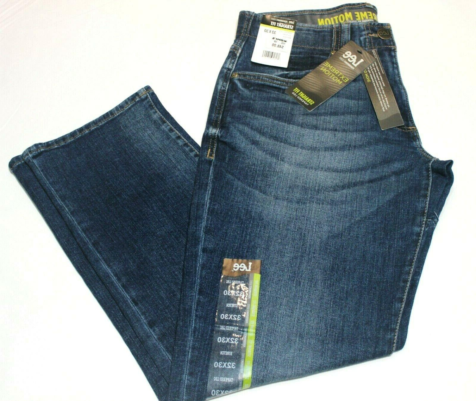 Men's Performance Extreme Motion Straight Fit Tapered Leg Jeans