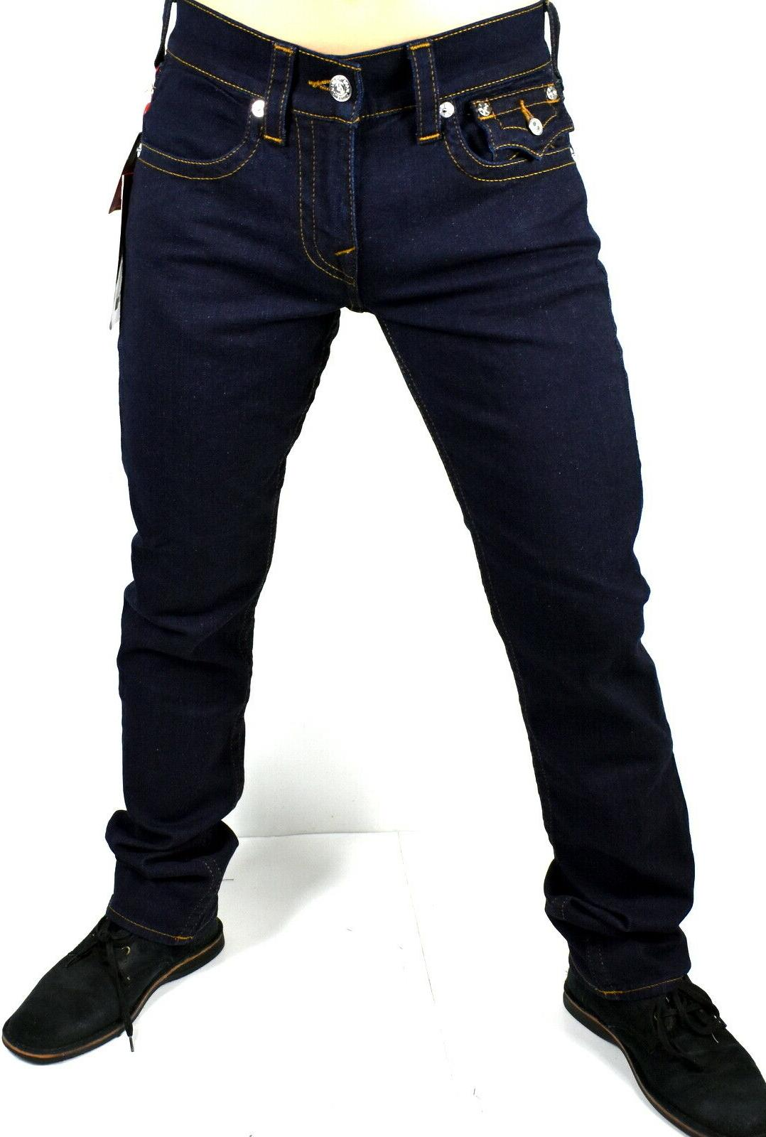 True Men's Dark Straight Jeans 102643