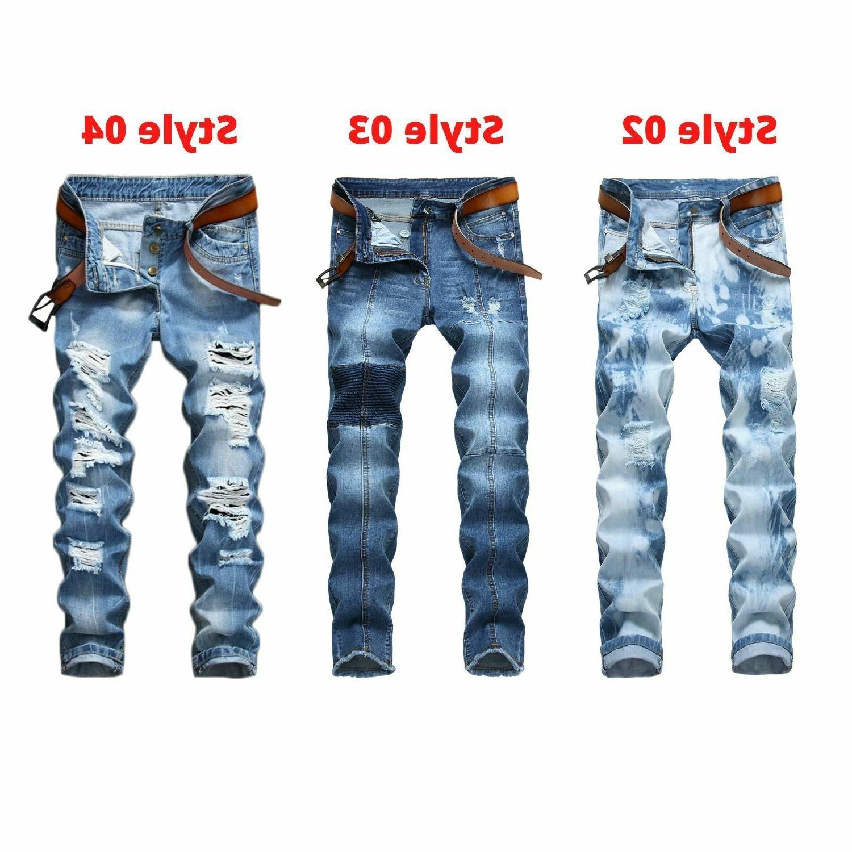 men s ripped biker jeans skinny jeans
