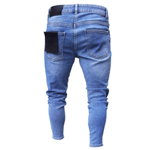 Men's Ripped Stretch Frayed Slim Fit