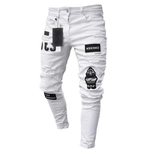 Men's Skinny Stretch Fit Pants Trousers US