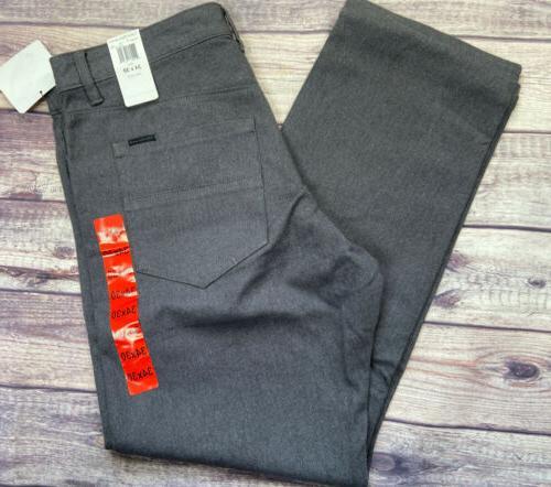 men s straight leg grey pants 34x30