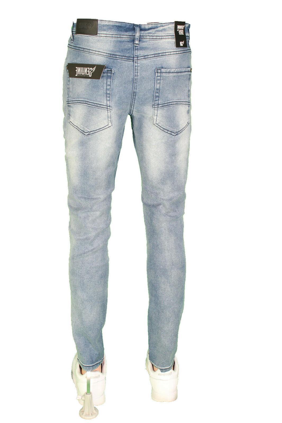 Men Slim Fit Super Stretch Pants Slim Skinny Casual Jeans