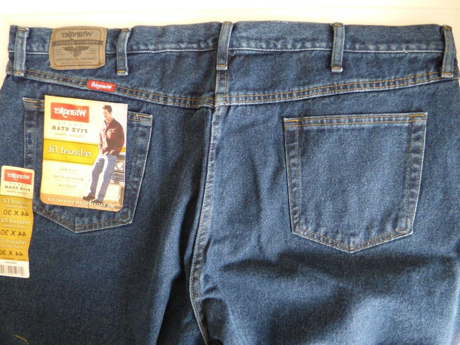 Mens Wrangler 5 Relaxed Premium Denim
