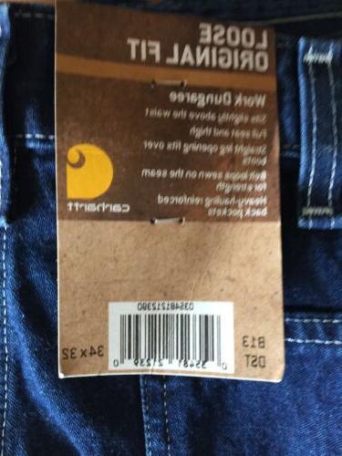 mens dungaree original fit carpenter blue jeans