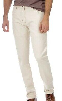 Wrangler Mens Jeans Light Beige Size 36X32 Slim Fit Tapered