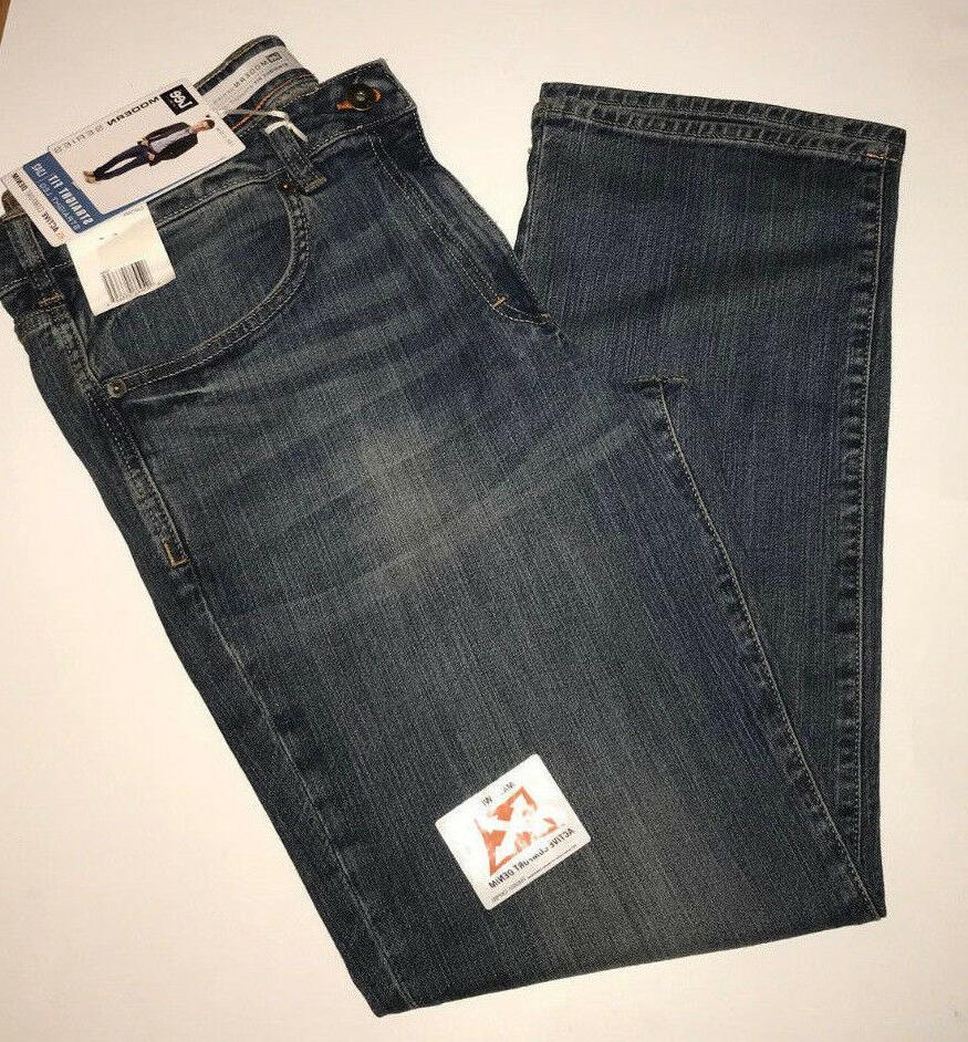 LEE Mens Jeans Modern Series Stretch Straight Fit Active Com