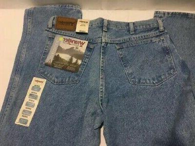 Wrangler Men's Jeans Wear Blue Denim 34x34 with