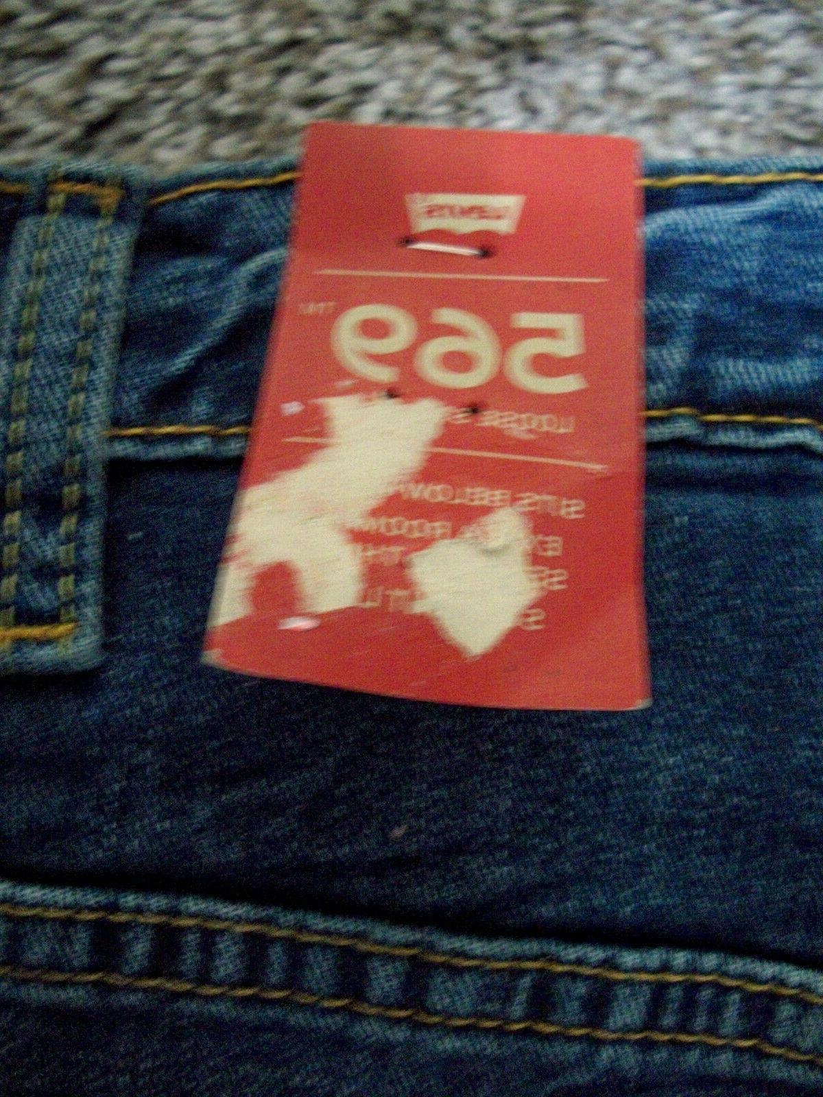 Mens Straight Blue Denim Jeans