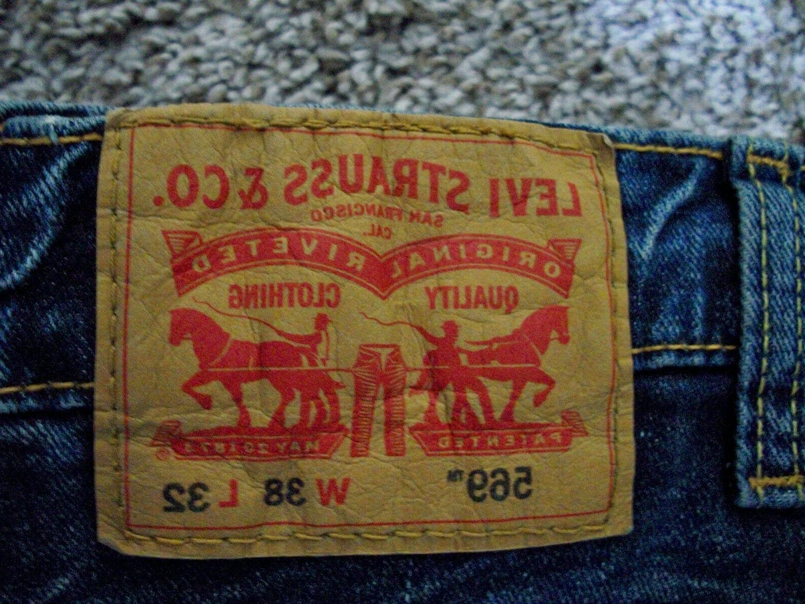 Mens LEVI'S 569 Straight Jeans NWT 38x32 $60