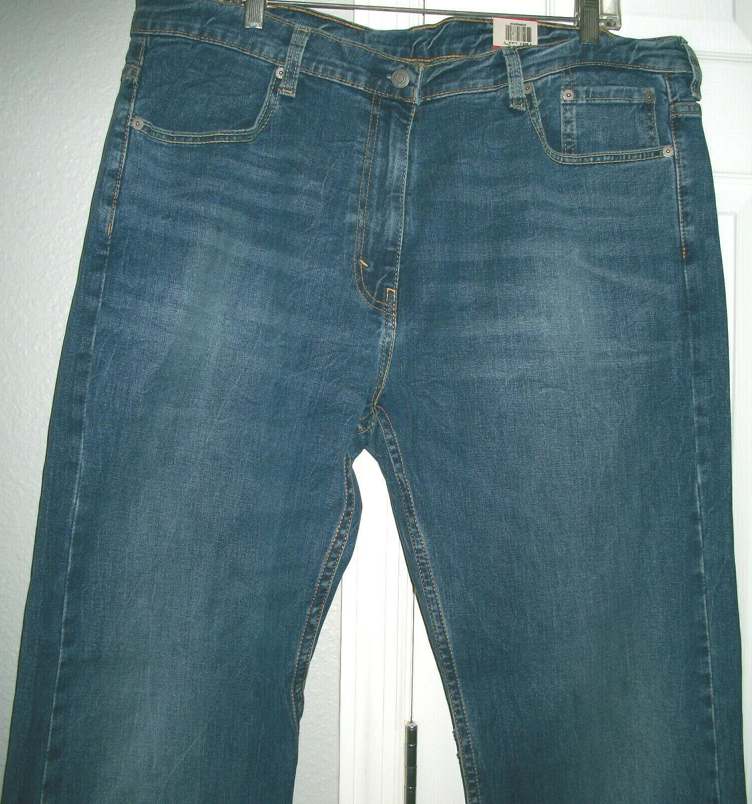 Mens Loose Straight Jeans