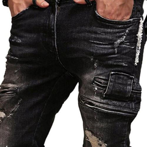 Mens Ripped Slim Distressed