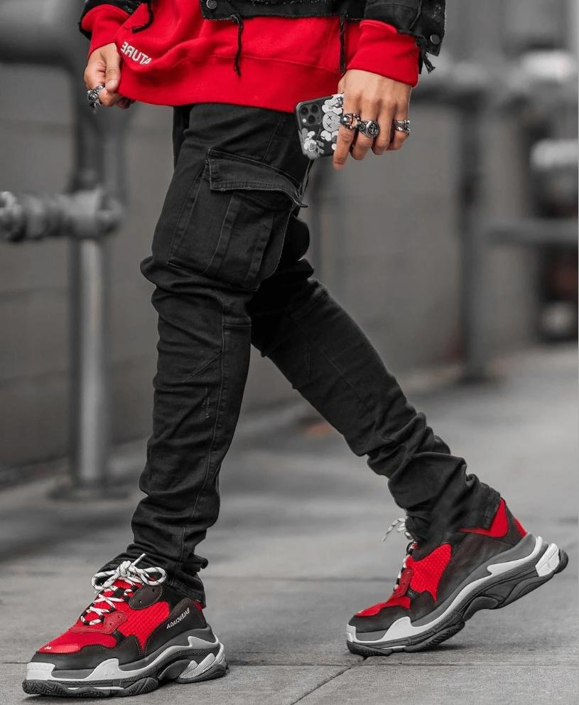Mens Ripped Jeans Stretch Skinny Slim Denim