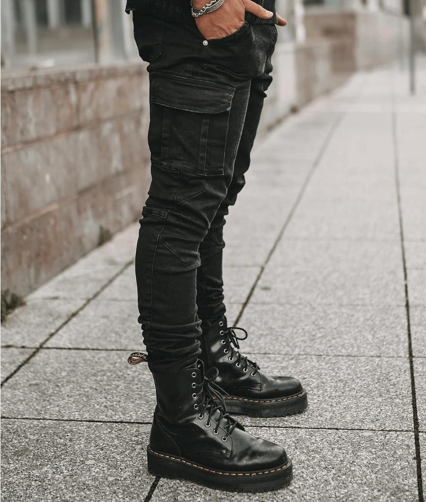 Mens Ripped Skinny Casual Slim Jogger Pants