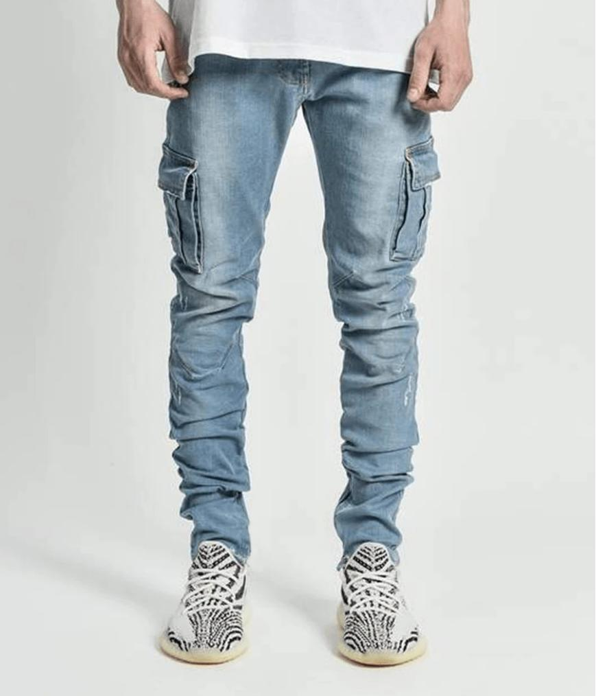 Mens Skinny Slim Pants