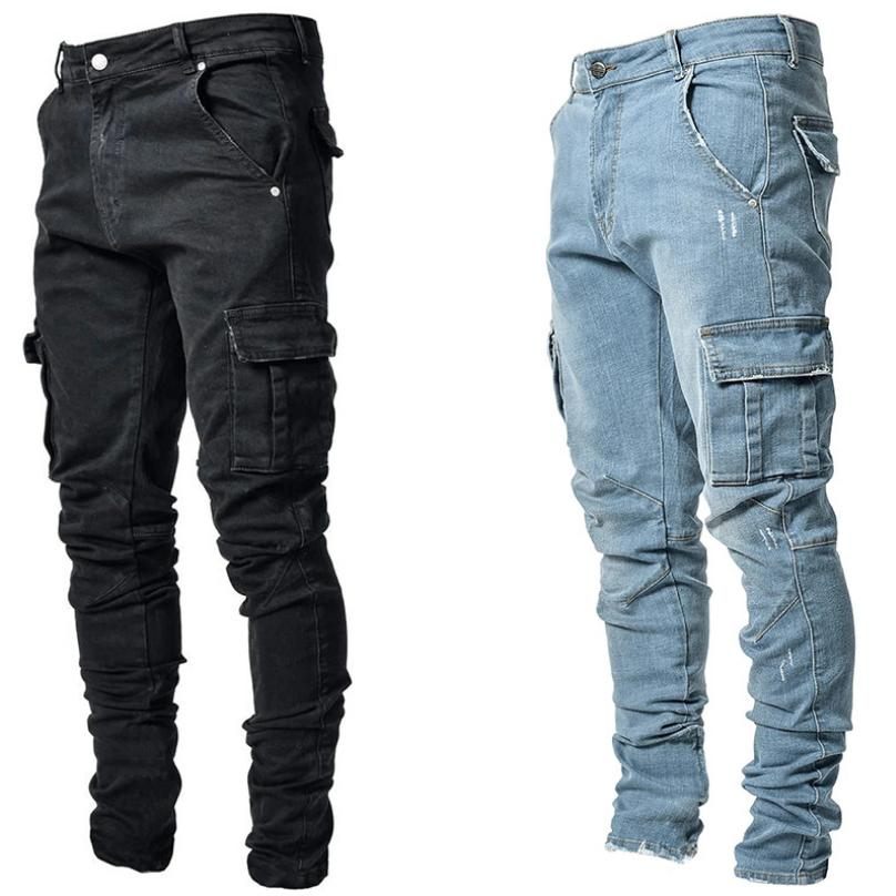 mens ripped jeans stretch skinny trousers stretch