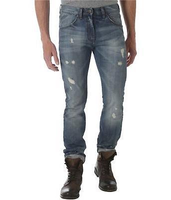 Wrangler Mens Ripped Slim Fit Jeans
