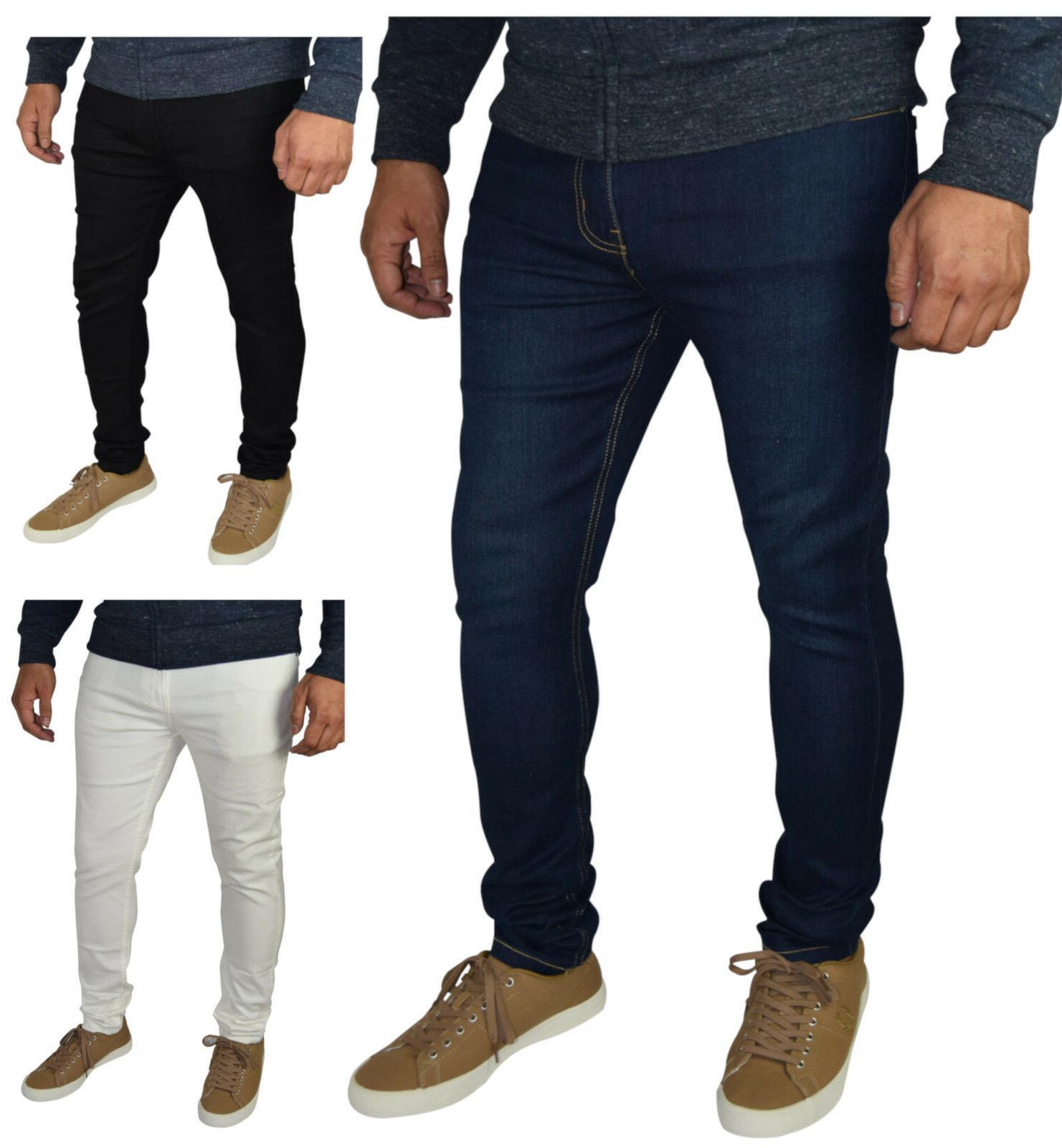 mens skinny fit super stretch jeans