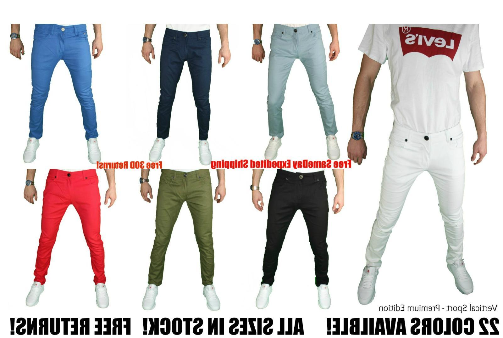 mens skinny jeans slim stretch fit slim