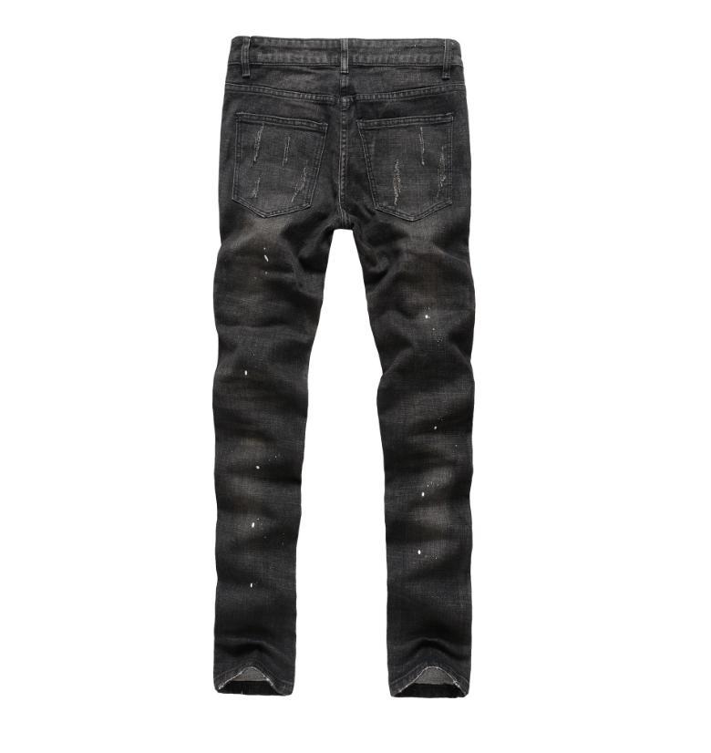 Mens Distressed Denim Pants Casual US