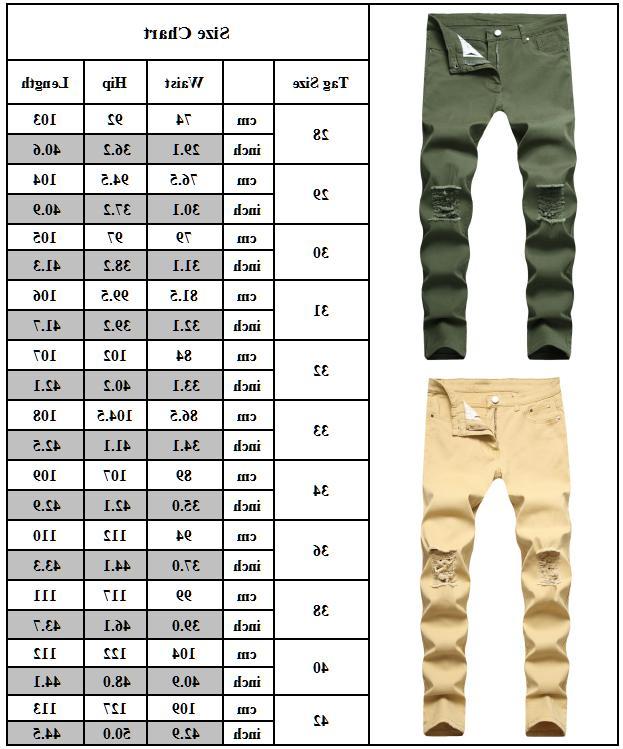 Mens Skinny Denim Jeans Slim Distressed