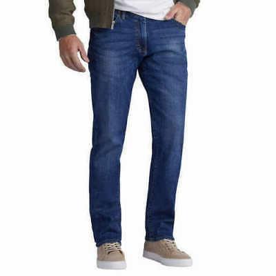 Lee Motion Stretch Mens Jeans Blue Denim Broken-In-Look Stra