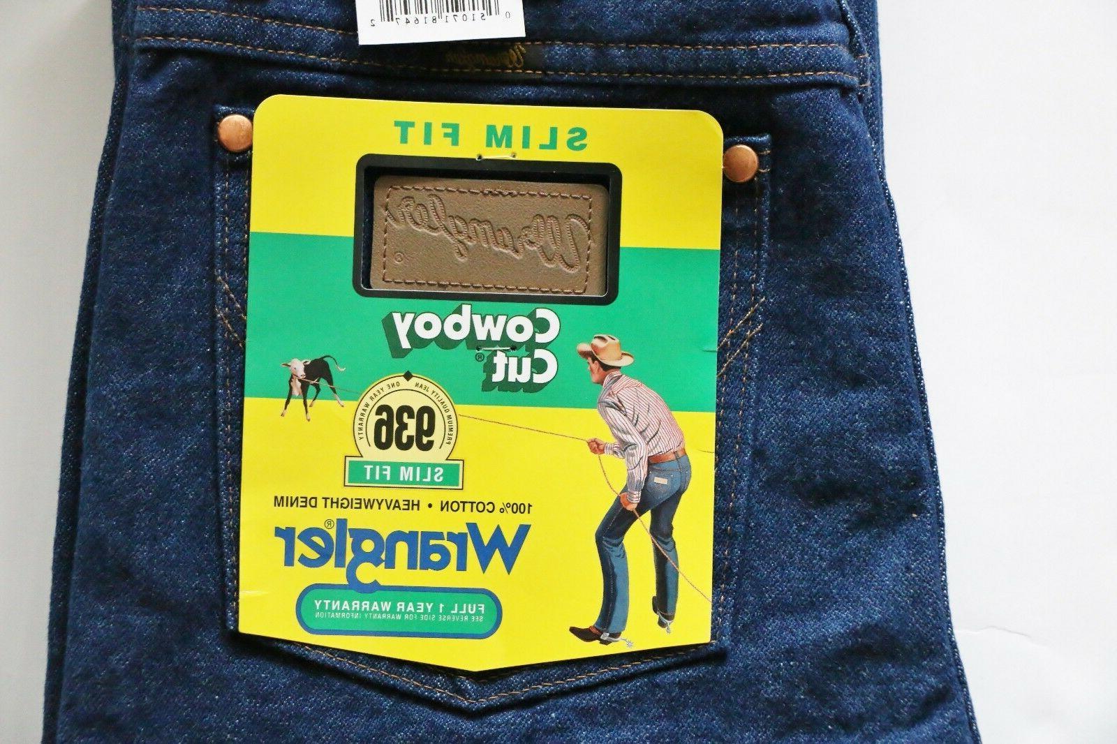 New Wrangler Cowboy Cut Slim Men's Sizes Indigo Denim