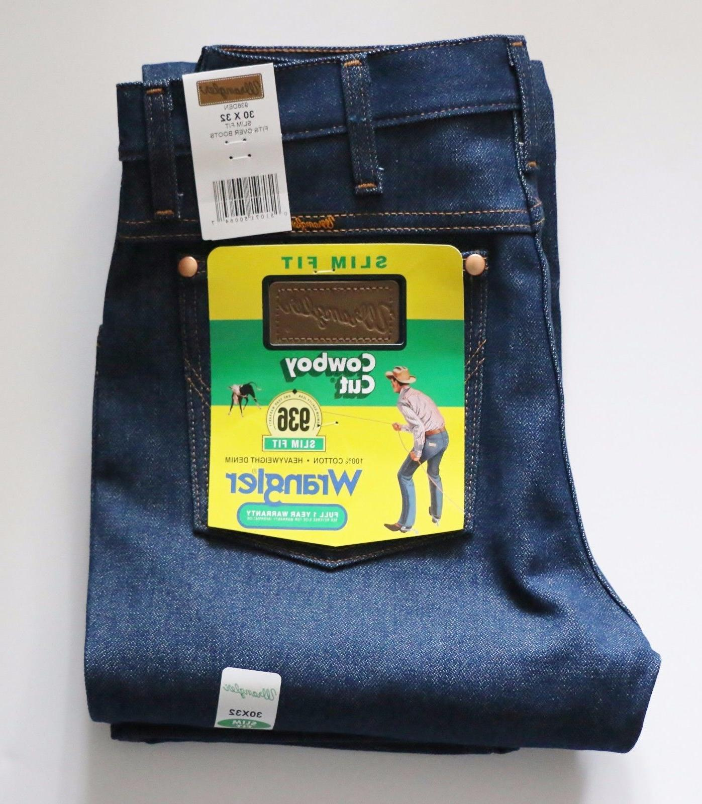New Wrangler 936 Cowboy Cut Slim Fit Jeans Men's Sizes Rigid