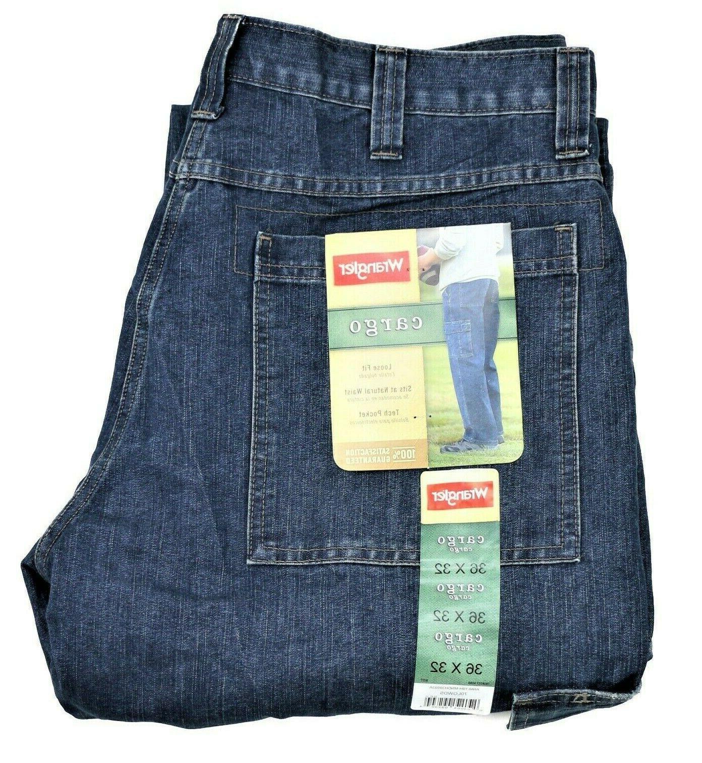new cargo jeans dark stone denim tech