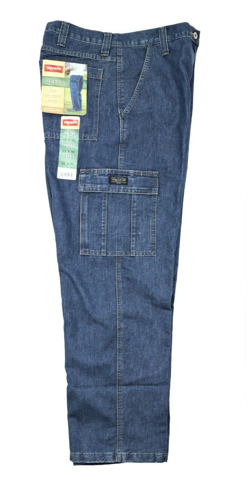 New Wrangler Jeans Dark Denim Pocket Men's