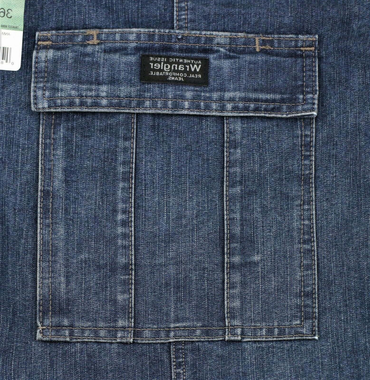 New Wrangler Jeans Dark Denim Pocket Men's Sizes