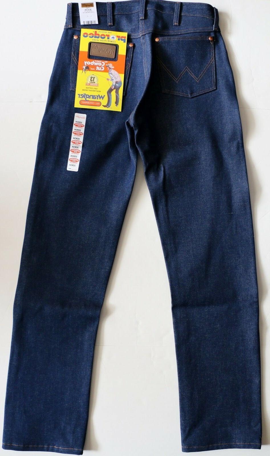 New Wrangler Cut 13MWZ Original Fit Jeans Rigid Men's