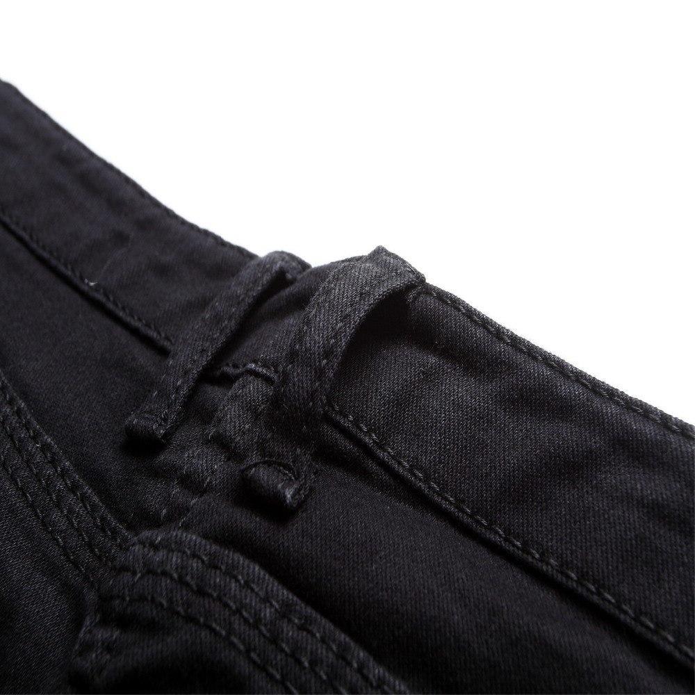 New Relaxed Dark Straight Dark Pants