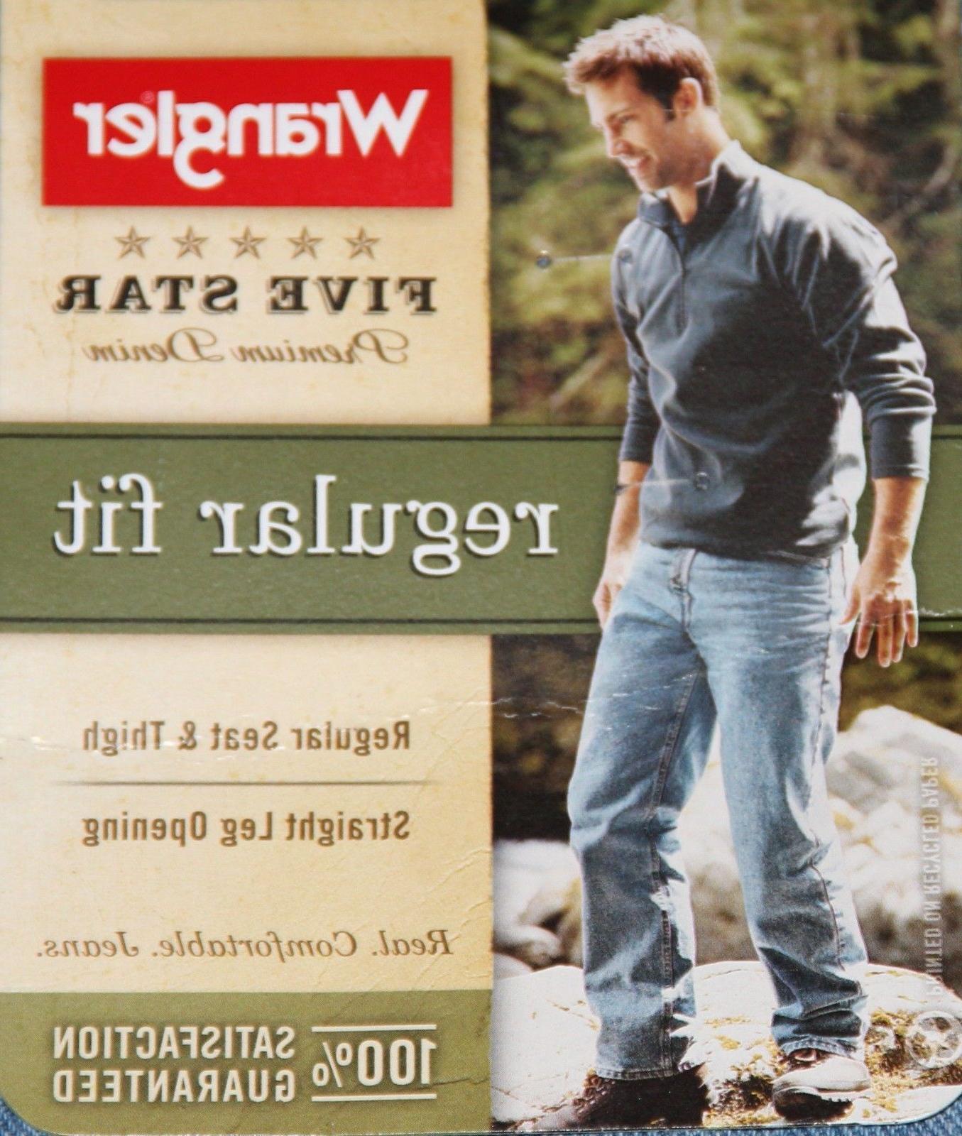 New Wrangler Five Star Regular Fit Jeans Sizes