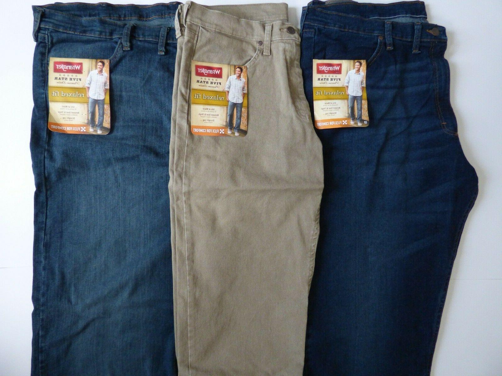 5ed4acc4 NEW Mens Wrangler Five Star Relaxed Fit Je