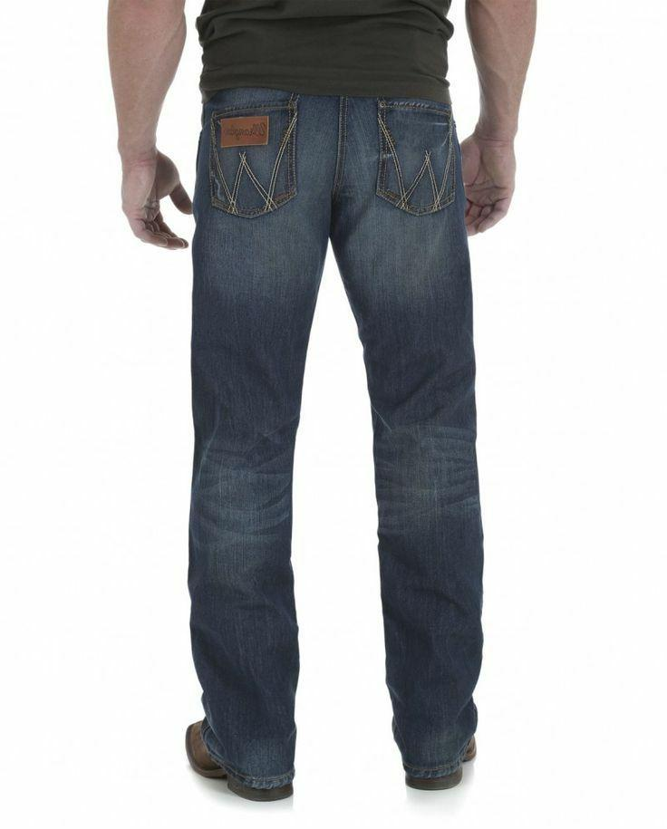 NEW MENS Wrangler Relaxed Bootcut Dusk Stitch WLT20DS
