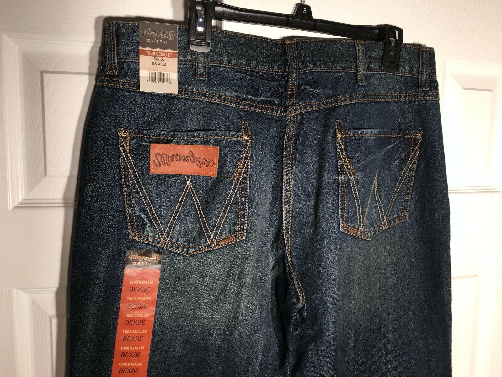 NEW MENS Wrangler Retro Relaxed Fit Bootcut Dusk Stitch WLT20DS