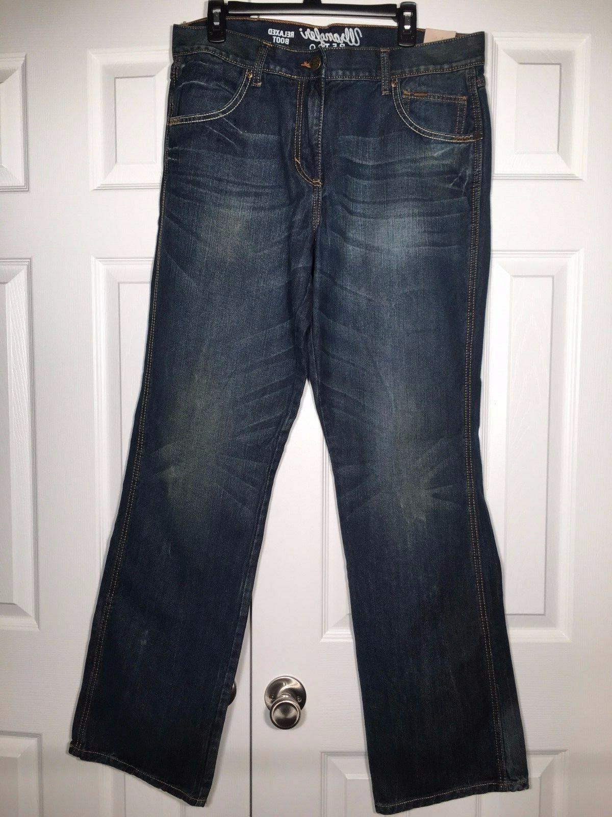 NEW Relaxed Bootcut Jeans Dusk Denim Blue WLT20DS