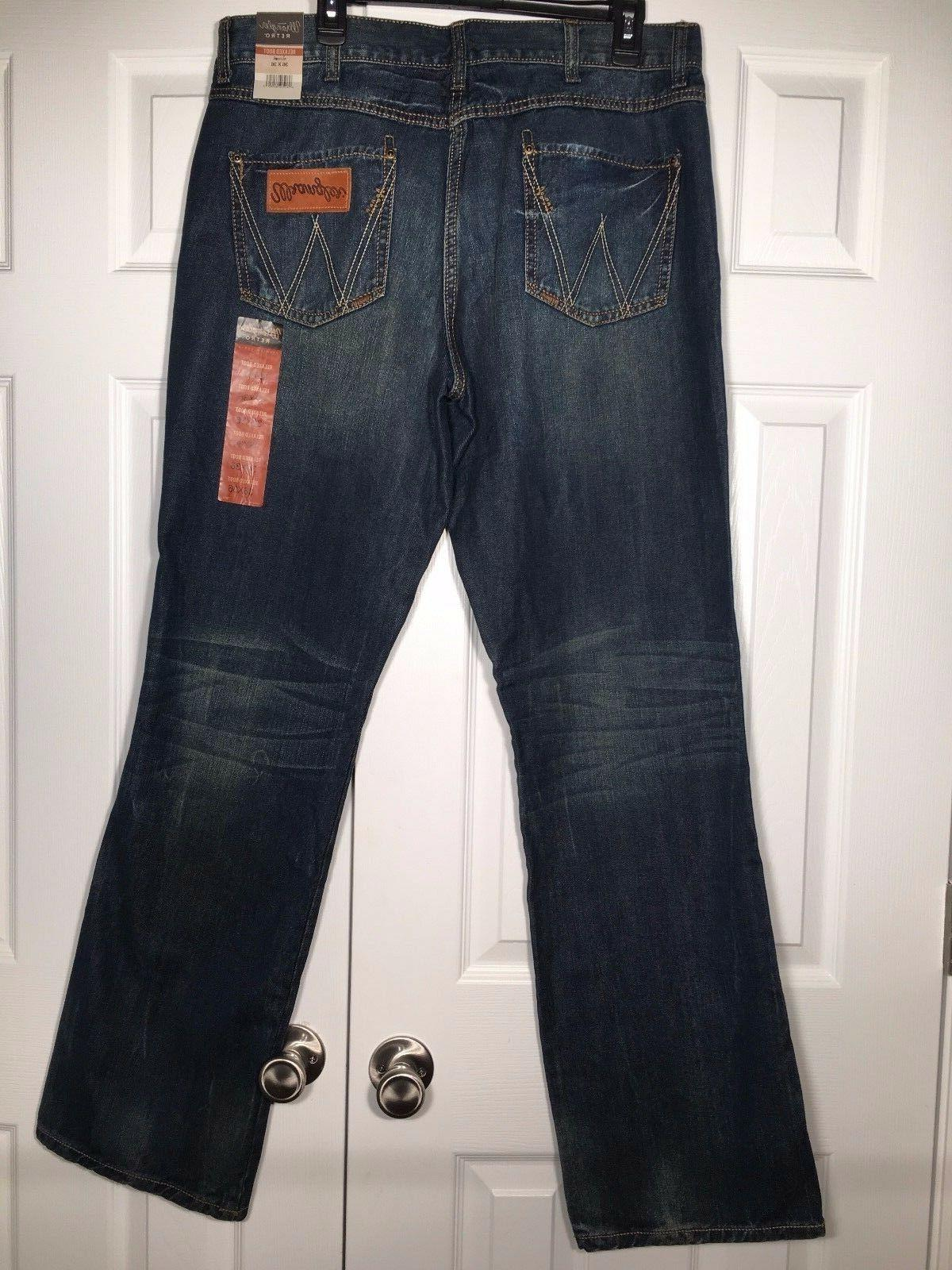 new mens retro relaxed fit bootcut jeans
