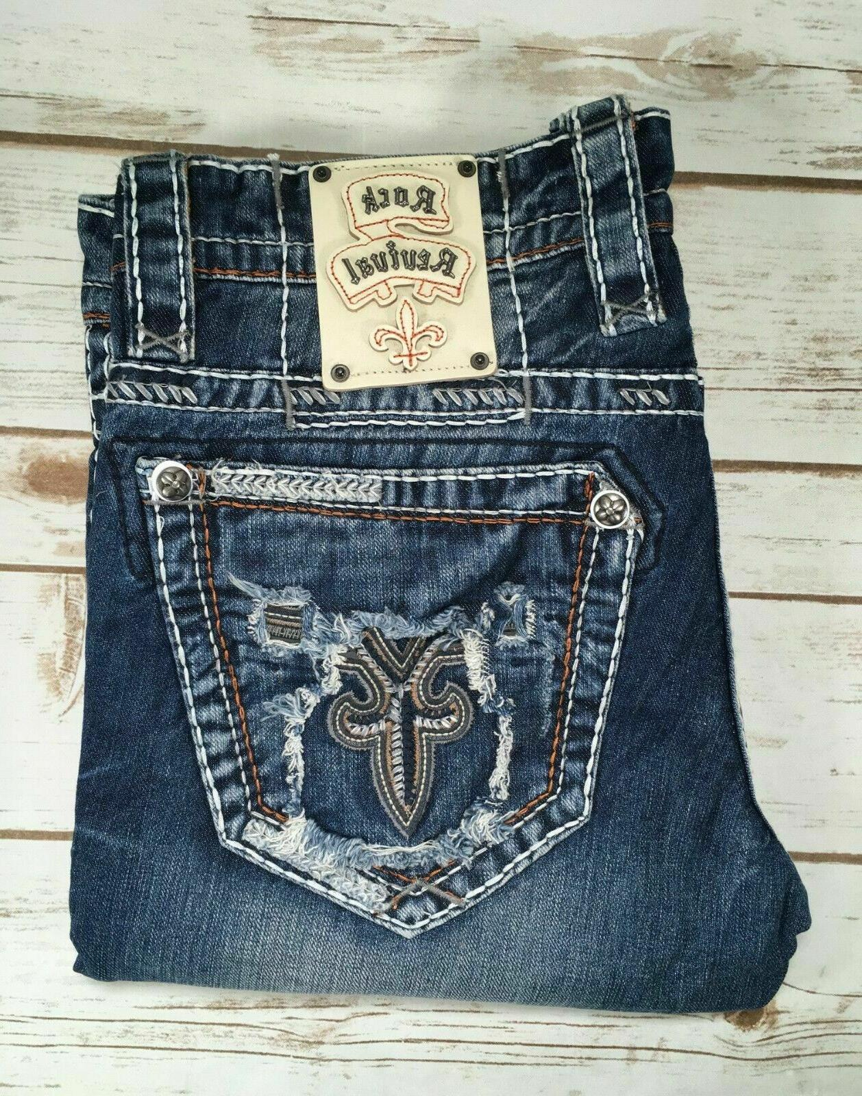 New Mens Vietia Straight Jeans SZ 32 34 36 40 44
