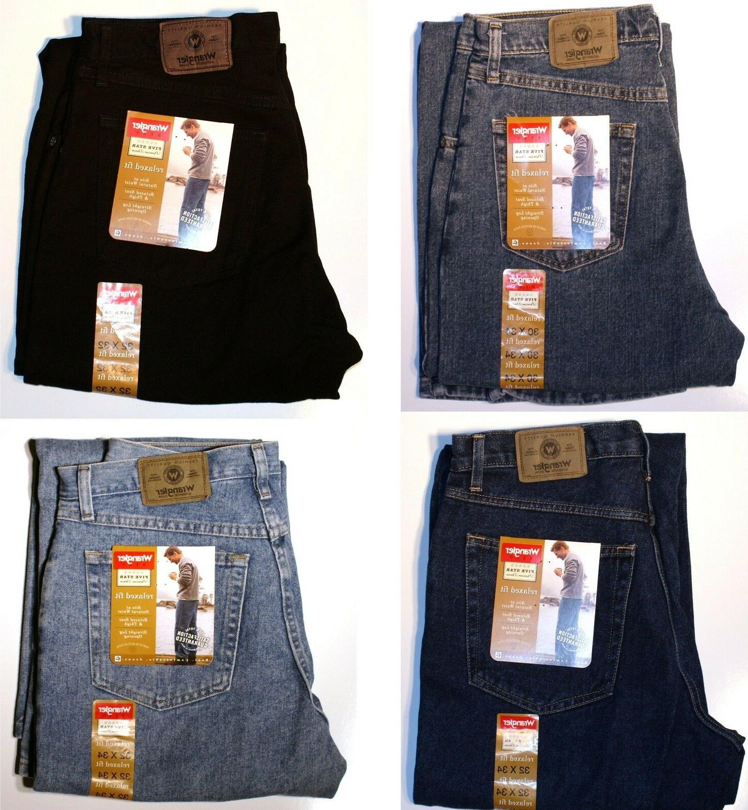New Five Relaxed Jeans All Men`s Sizes Four Available