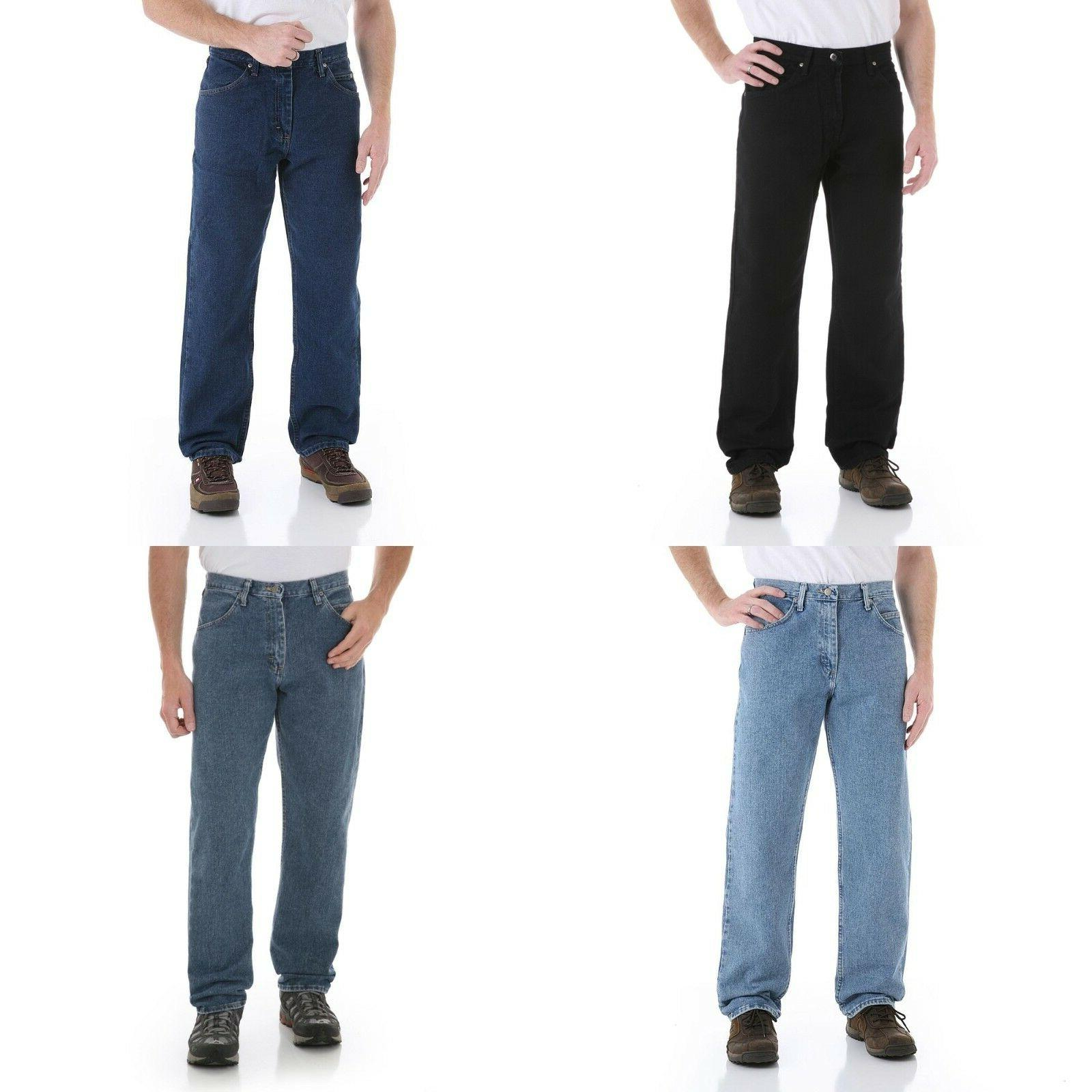 New Wrangler Relaxed Jeans All Men`s Colors Available